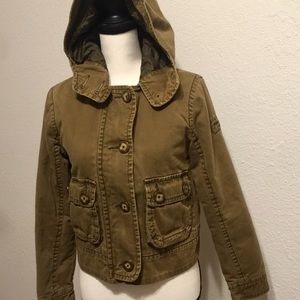 Abercrombie & Fitch Green Military style Jacket